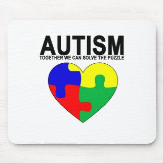 Autism - Together we can solve the puzzle T-Shirt. Mouse Pad