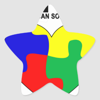 Autism - Together we can solve the puzzle T-Shirt. Star Sticker