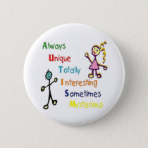 Autism Traits Pinback Button