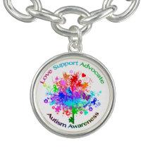 Autism Tree in Spectrum Charm Bracelet