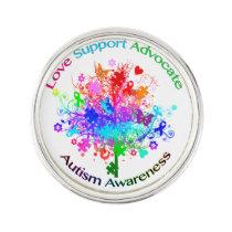 Autism Tree in Spectrum Lapel Pin