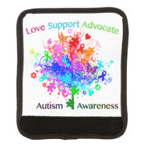Autism Tree in Spectrum Luggage Handle Wrap