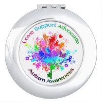 Autism Tree in Spectrum Mirror For Makeup