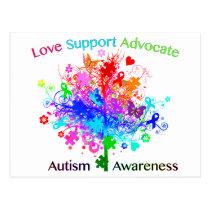 Autism Tree in Spectrum Postcard