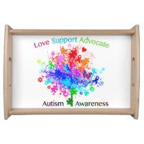 Autism Tree in Spectrum Serving Tray