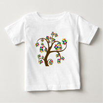 Autism Tree of Life Baby T-Shirt