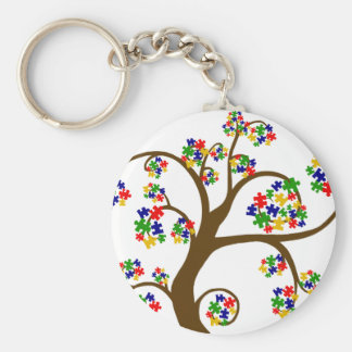 Autism Tree of Life Basic Round Button Keychain