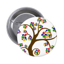 Autism Tree of Life Button