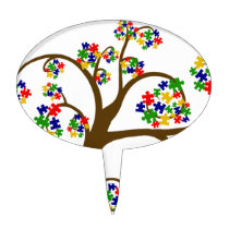 Autism Tree of Life Cake Topper