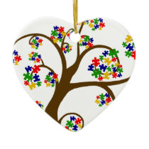 Autism Tree of Life Ceramic Ornament