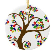 Autism Tree of Life Ceramic Ornament