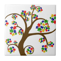 Autism Tree of Life Ceramic Tile