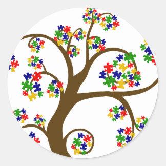 Autism Tree of Life Classic Round Sticker