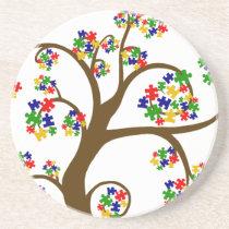 Autism Tree of Life Coaster