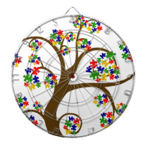 Autism Tree of Life Dartboard With Darts