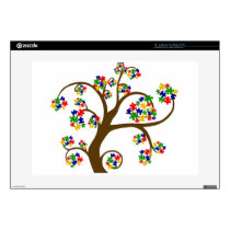 """Autism Tree of Life Decals For 15"""" Laptops"""