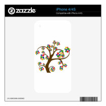 Autism Tree of Life Decals For iPhone 4