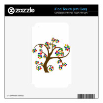 Autism Tree of Life Decals For iPod Touch 4G