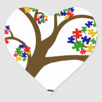 Autism Tree of Life Heart Sticker