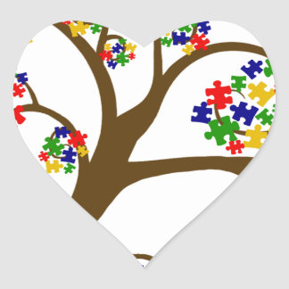 Autism Tree of Life Heart Sticker