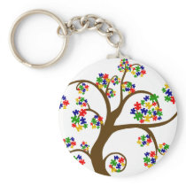 Autism Tree of Life Keychain