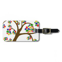 Autism Tree of Life Luggage Tag