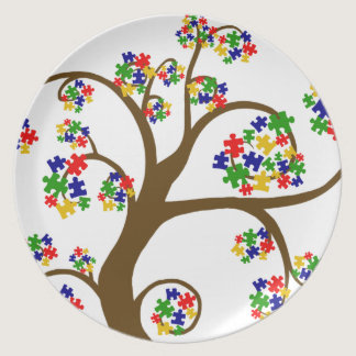 Autism Tree of LIfe Melamine Plate