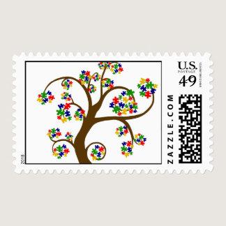 Autism Tree of Life Postage