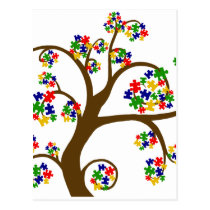 Autism Tree of Life Postcard
