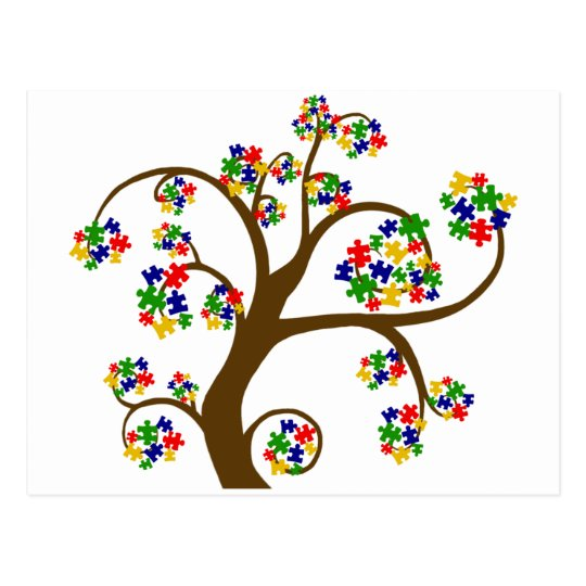 Autism Tree of Life Postcard
