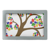 Autism Tree of Life Rectangular Belt Buckle