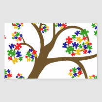 Autism Tree of Life Rectangular Sticker