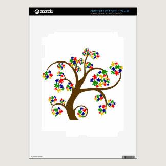 Autism Tree of Life Skin For iPad 3
