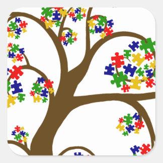 Autism Tree of Life Square Sticker