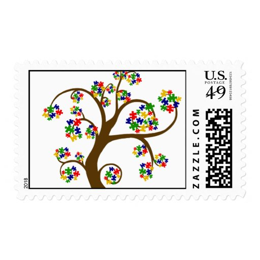 Autism Tree of Life Stamp