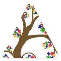 Autism Tree of Life Triangle Sticker