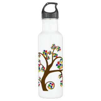 Autism Tree of Life Water Bottle