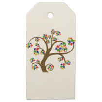 Autism Tree of Life Wooden Gift Tags