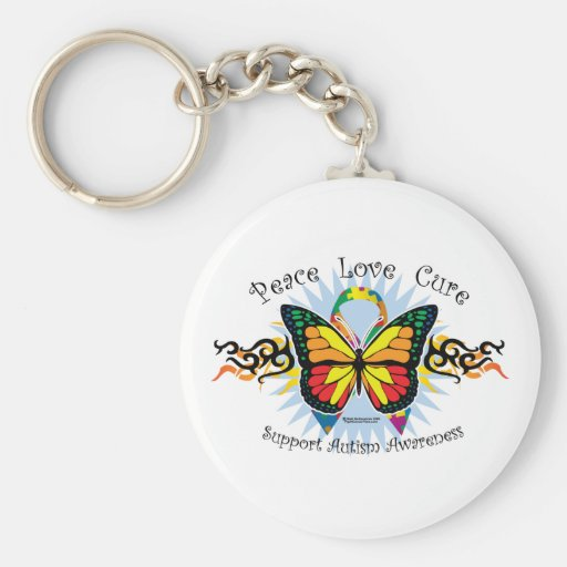 Autism Tribal Butterfly Keychains