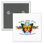 Autism Tribal Butterfly Pin
