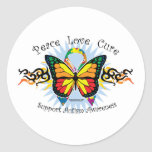Autism Tribal Butterfly Stickers