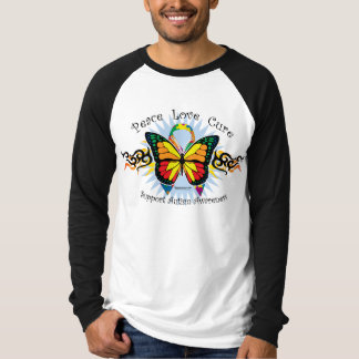 Autism Tribal Butterfly T-Shirt