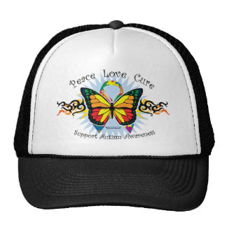 Autism Tribal Butterfly Trucker Hat