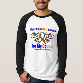 Autism Tribal Ribbon Cousin T-Shirt