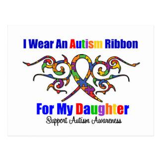 Autism Tribal Ribbon Daughter Postcard