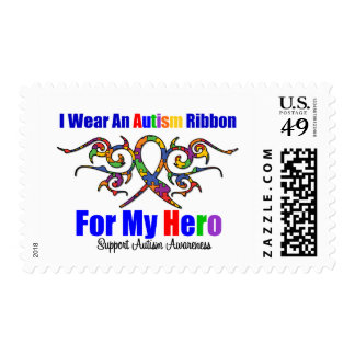 Autism Tribal Ribbon HERO Postage Stamp