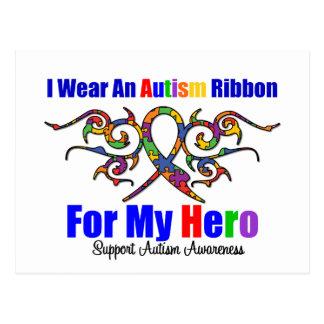 Autism Tribal Ribbon HERO Postcard