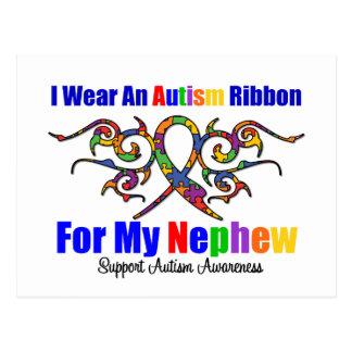 Autism Tribal Ribbon Nephew Postcards