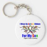 Autism Tribal Ribbon Son Keychain