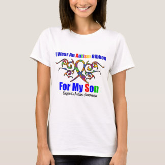 Autism Tribal Ribbon Son T-Shirt